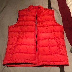Gap Orange insulated vest.